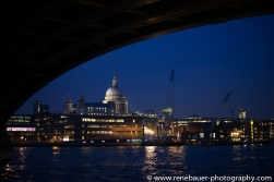 under a bridge is a skyline